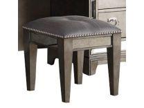Furniture Lenox Vanity Bench Platinum