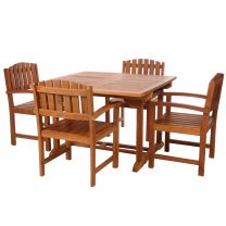 5-Piece Butterfly Dining Chair Set and Cushion