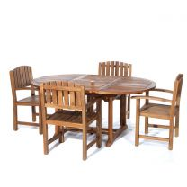 5-Piece Oval Dining Chair Set