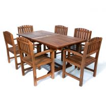 7-Piece Rectangle Dining Chair Set and Cushion