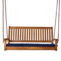 Teak Swing and Cushions